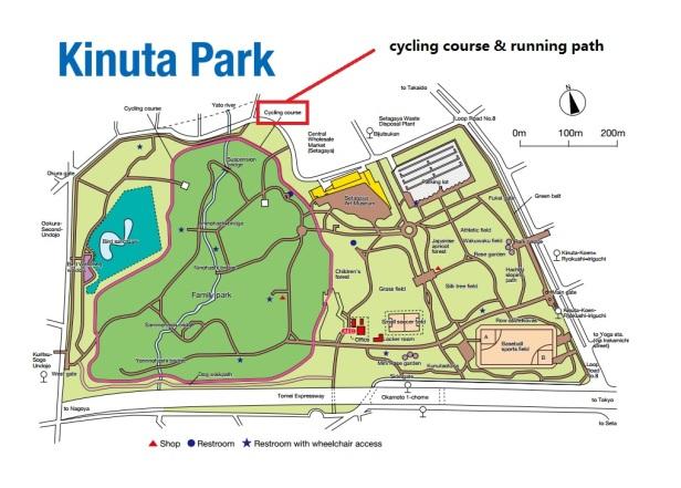 kinuta-park-running-path-map